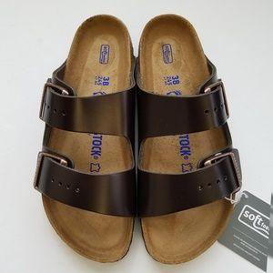 Birkenstock Arizona Amalfi Brown Leather Sandal 38